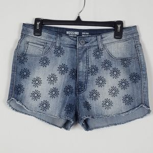 Mossimo•Embroidered Flower HighRise Raw Hem Short